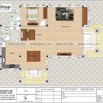 4 Mặt bằng tầng 1 biệt thự tân cổ điển 2 mặt tiền tại hải phòng sh btp 0148