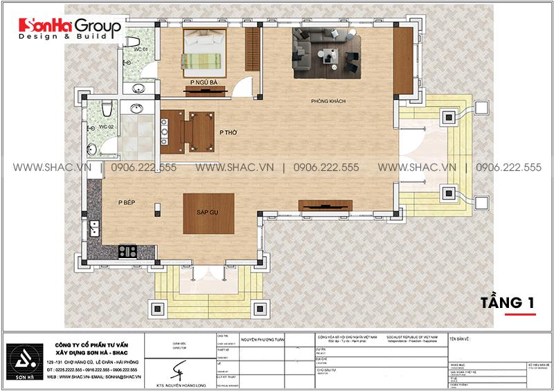 Biệt thự tân cổ điển mái thái 1 tầng 10x13m tại Hải Phòng – SH BTP 0148 4