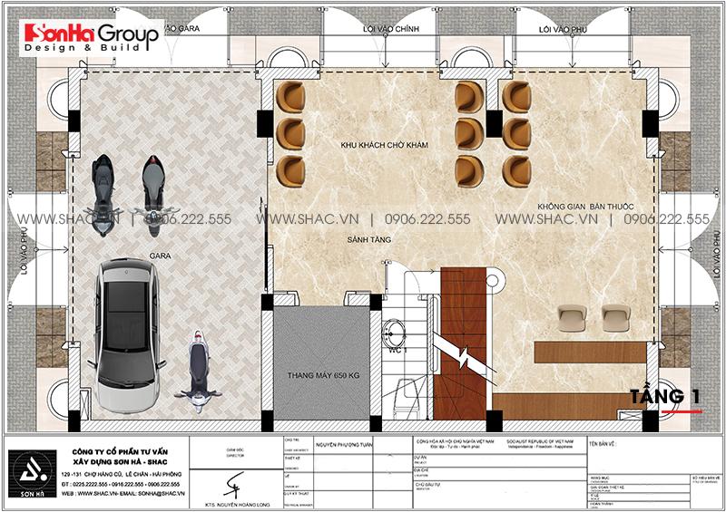 Thiết kế tòa nhà văn phòng tân cổ điển 6,8x11m tại Hà Nội - SH VP 0038 4