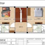 5 Bản vẽ tầng 2 nhà ống tân cổ điển 4 tầng tại hải phòng sh nop 0202