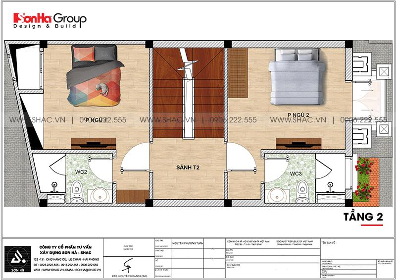 Mẫu nhà ống đẹp kiến trúc tân cổ điển 4 tầng mặt tiền 5m tại Hải Phòng – SH NOP 0202 5