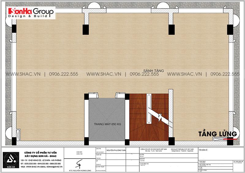 Thiết kế tòa nhà văn phòng tân cổ điển 6,8x11m tại Hà Nội - SH VP 0038 5