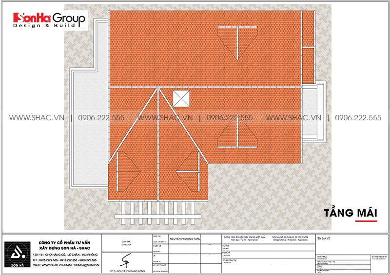 Biệt thự tân cổ điển mái thái 1 tầng 10x13m tại Hải Phòng – SH BTP 0148 5