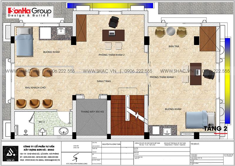 Thiết kế tòa nhà văn phòng tân cổ điển 6,8x11m tại Hà Nội - SH VP 0038 6
