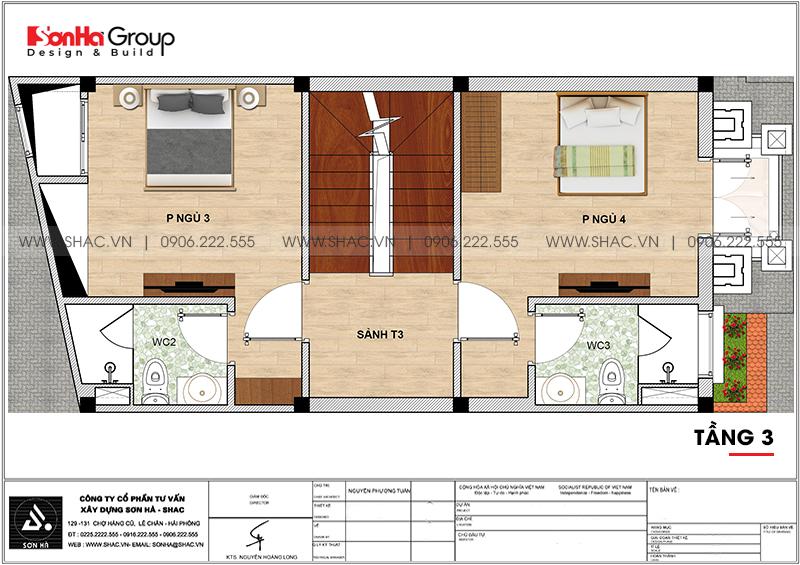 Mẫu nhà ống đẹp kiến trúc tân cổ điển 4 tầng mặt tiền 5m tại Hải Phòng – SH NOP 0202 6