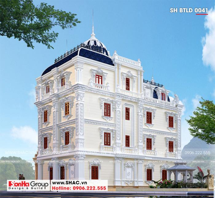 Mãn nhãn phương án thiết kế biệt thự đẹp phong cách lâu đài châu Âu