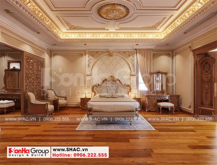 Thiết kế phòng ngủ cổ điển với nội thất đẹp