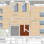 7 Bản vẽ tầng 3 tòa nhà văn phòng 6 tầng tại hà nội sh vp 0038