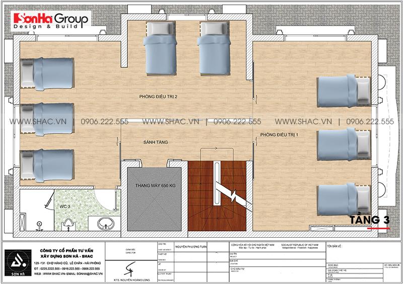Thiết kế tòa nhà văn phòng tân cổ điển 6,8x11m tại Hà Nội - SH VP 0038 7