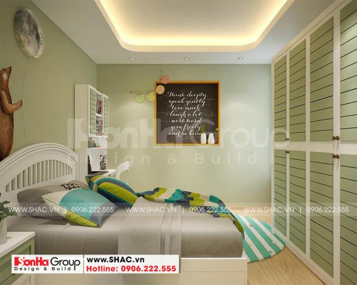 Đây cũng là phương án thiết kế nội thất phòng ngủ bé gái ấn tượng