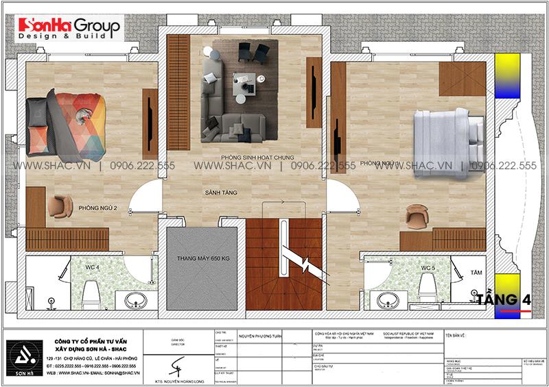 Thiết kế tòa nhà văn phòng tân cổ điển 6,8x11m tại Hà Nội - SH VP 0038 8
