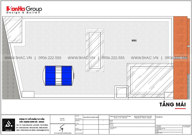 Mẫu nhà ống đẹp kiến trúc tân cổ điển 4 tầng mặt tiền 5m tại Hải Phòng – SH NOP 0202 8