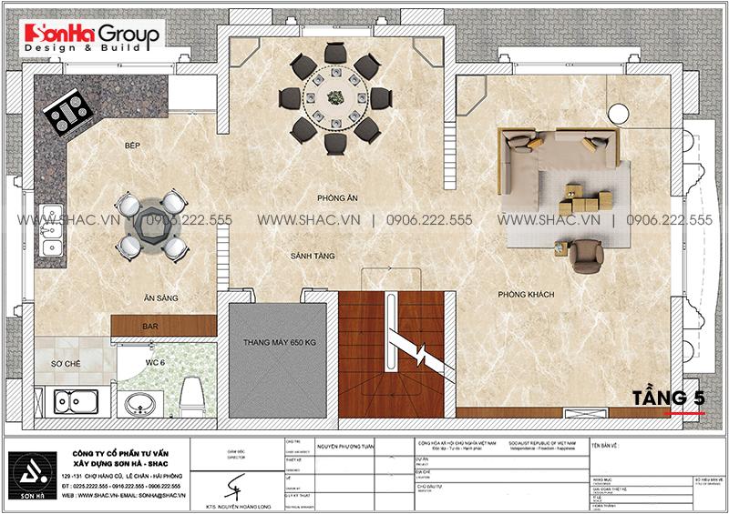 Thiết kế tòa nhà văn phòng tân cổ điển 6,8x11m tại Hà Nội - SH VP 0038 10