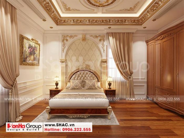 Căn phòng ngủ cổ điển với thiết kế nội thất kiểu dáng đẹp và sang
