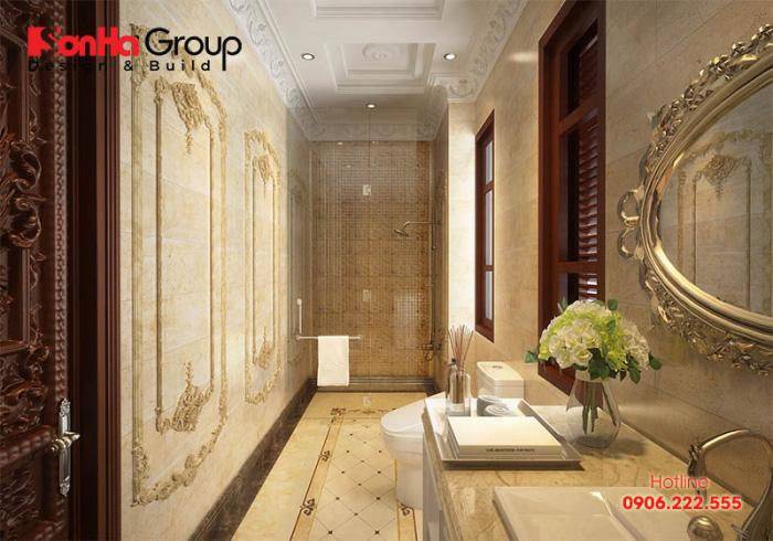 Bằng ý tưởng thực hiện sáng tạo, phong phú, KTS Sơn Hà đã mang tới căn phòng tắm ưng ý, đúng sở thích mà chủ nhân chờ đợi