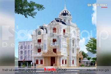 BÌA thiết kế biệt thự lâu đài 4 tầng 1 tum 2 mặt tiền tại an long sh btld 0041