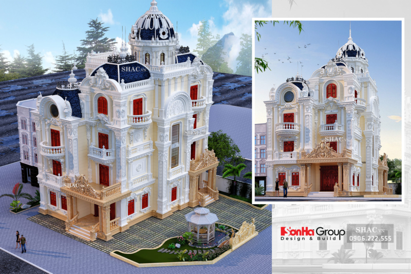 Biệt thự lâu đài 4 tầng 1 tum 200m2 tân cổ điển