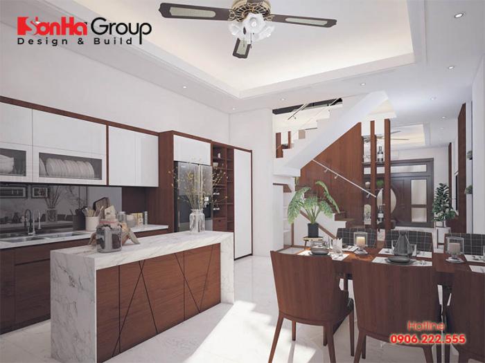 Cách bài trí nội thất phòng bếp nhà phố hiện đại, khoa học tạo sự thuận tiện cho người sử dụng