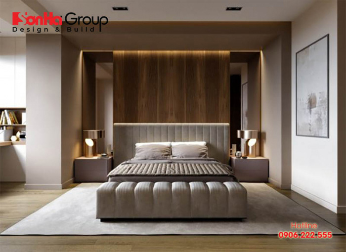 Cảm nhận sự lãng mạn nhưng cũng rất hiện đại của mẫu phòng ngủ thiết kế đơn giản mà sang trọng này