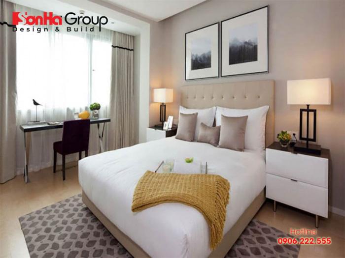 Căn phòng ngủ 24m2 hiện đại, ấm cúng với nội thất đẹp, sang trọng