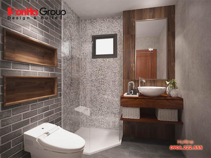 Căn phòng tắm hiện đại đẹp của nhà phố với mẫu mã đa dạng, màu sắc tươi mới giúp gia chủ có cuộc sống trọn vẹn hơn nữa