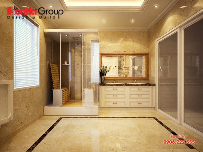 Chiêm ngưỡng nội thất phòng tắm kiểu cổ điển đẹp trang trọng và tiện nghi nhất dành cho nhà biệt thự