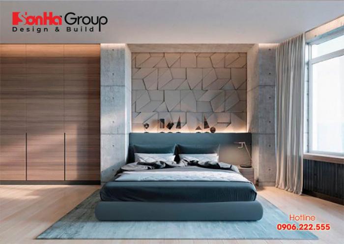 Mẫu phòng ngủ kiểu dáng hiện đại có chi phí thi công hợp lý được nhiều gia chủ lựa chọn