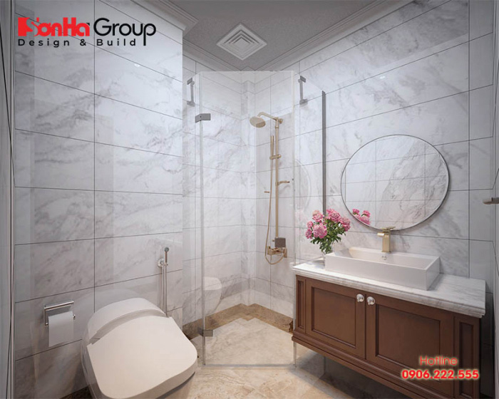 Mẫu phòng tắm, vệ sinh khép kín trong phòng ngủ vô cùng hiện đại và tiện nghi ai cũng muốn sở hữu