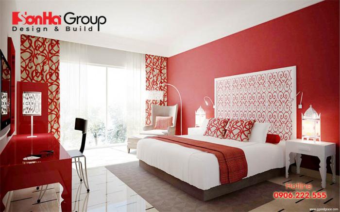 Màu sắc tốt nên dùng cho phòng ngủ của người tuổi Canh Tý là màu màu đỏ, hồng,cam, tím