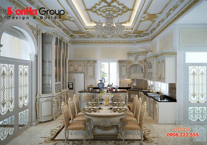 Mẫu thiết kế phòng bếp đẹp với nội thất cao cấp hợp túi tiền