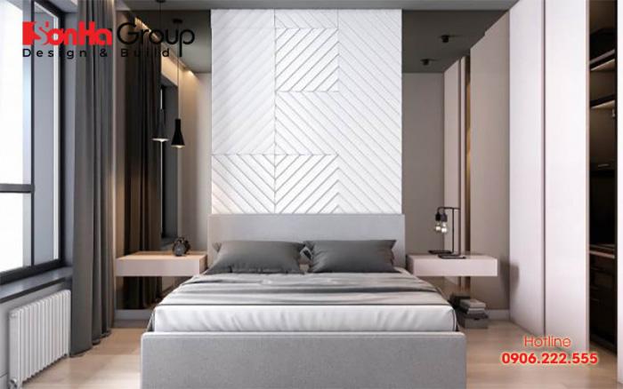 Mẫu trang trí phòng ngủ đơn giản, hiện đại với gam màu nhã nhặn hợp thời