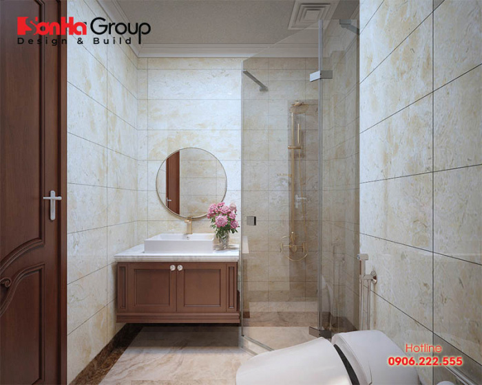 Nền nhà vệ sinh không được cao hơn phòng ngủ vì nước chảy xuống dưới sẽ làm ẩm kết cấu bên dưới