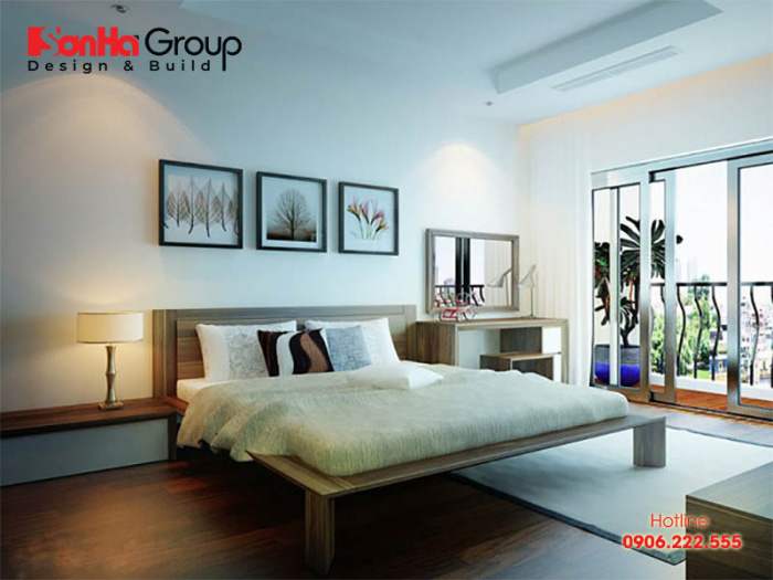 Nội thất phòng ngủ hiện đại độc đáo được bố trí khoa học trên diện tích sàn 24m2