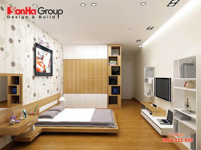 Phòng ngủ nội thất gỗ công nghiệp được yêu thích nhờ vẻ ngoài sang trọng, hiện đại rất thời thượng