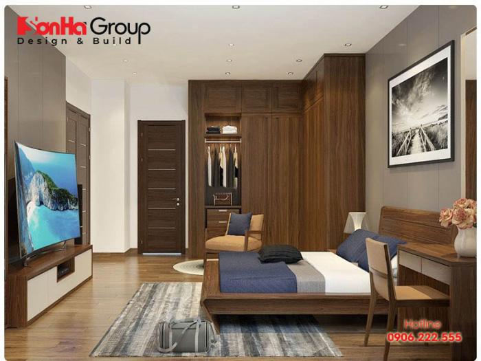 Thiết kế nội thất phòng ngủ đẹp hiện đại với kiểu dáng đơn giản màu sắc bắt mắt nhất