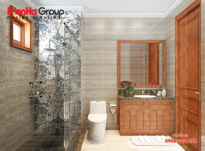 Thiết kế nội thất phòng tắm và vệ sinh ấn tượng, đẳng cấp với nội thất đẹp, khang trang dành cho phòng ngủ kiểu hiện đại