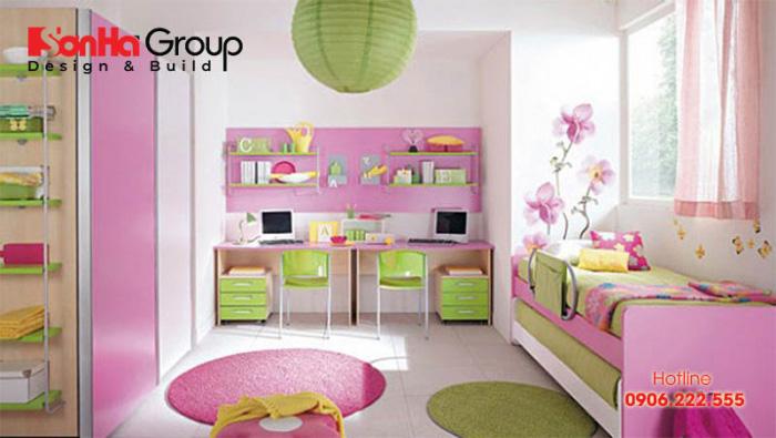 Trong một căn phòng ngủ 112m của trẻ bạn không nên lựa chọn quá nhiều màu sắc
