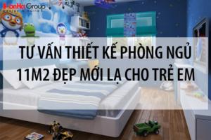 Tư vấn thiết kế phòng ngủ 11m2 đẹp, mới lạ cho trẻ em 5