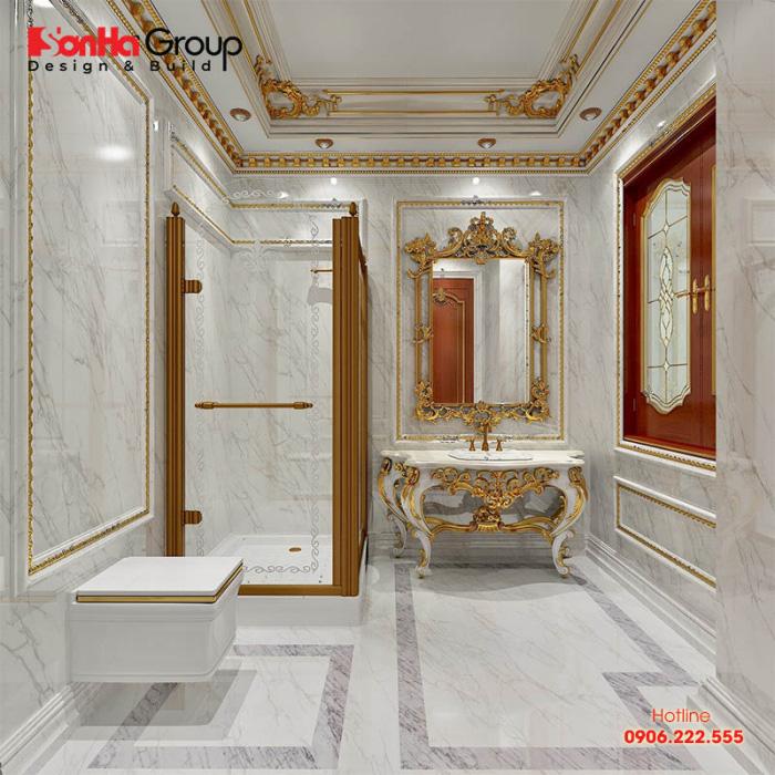Ý tưởng thiết kế nội thất phòng tắm và vệ sinh với xu hướng cổ điển Châu Âu nhẹ nhàng nhất