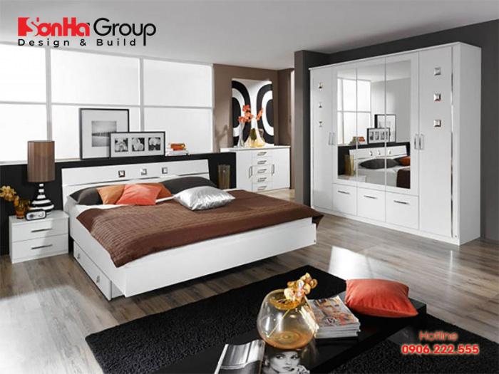 Ý tưởng thiết kế phòng ngủ 24m2 với nội thất hiện đại mang đến không gian riêng tư lý tưởng cho gia chủ