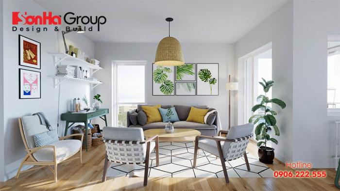 [Tham khảo] Cách trang trí phòng khách nhà ống đẹp phong cách hiện đại 1
