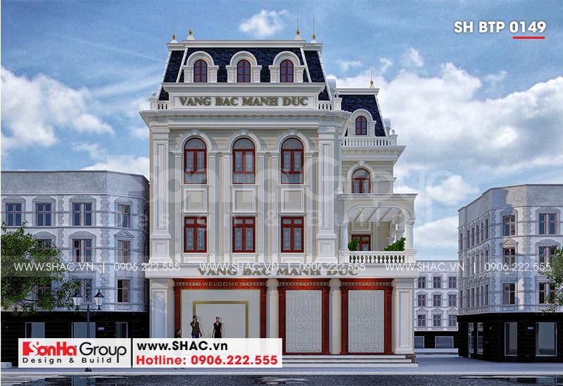 Chiêm ngưỡng không gian kiến trúc ngôi biệt thự tân cổ điển 3 tầng mặt tiền rộng 15m nổi bật tại huyện An Dương (Hải Phòng)