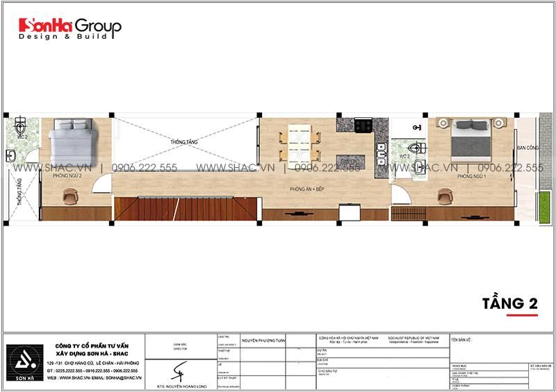 Độc đáo mẫu nhà ống hiện đại 3 tầng 3,86x22,85m tại Hải Phòng – SH NOD 0123 3