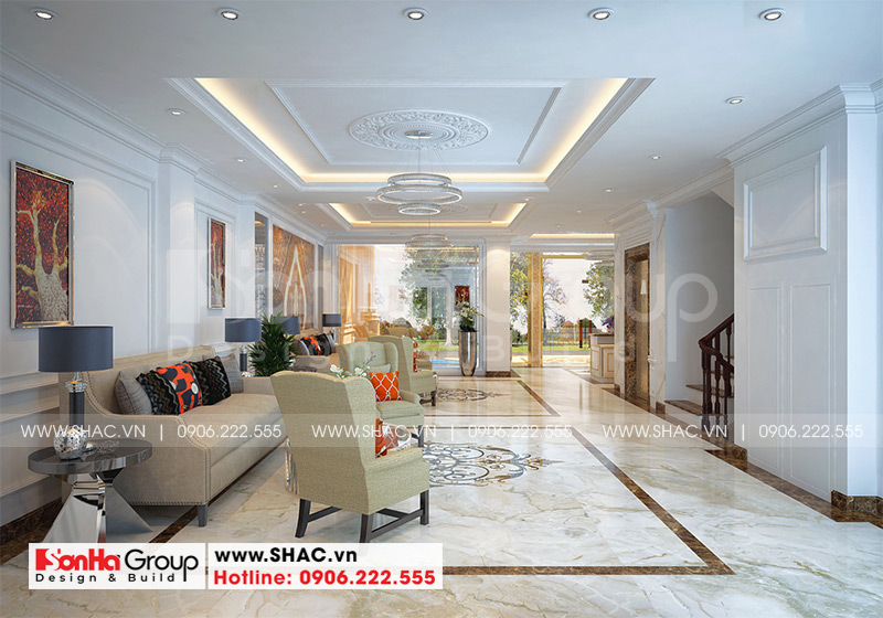 Mẫu tòa nhà văn phòng kiểu tân cổ điển diện tích 9,15m x 21,08m tại Sài Gòn - SH VP 0039 13