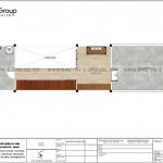 14 Mặt bằng tầng 3 nhà ống 2 phòng ngủ kiểu hiện đại tại hải phòng sh nod 0213