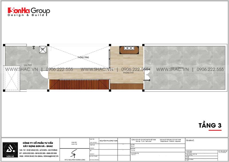 Độc đáo mẫu nhà ống hiện đại 3 tầng 3,86x22,85m tại Hải Phòng – SH NOD 0123 4