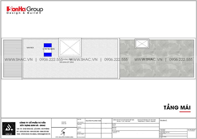 Độc đáo mẫu nhà ống hiện đại 3 tầng 3,86x22,85m tại Hải Phòng – SH NOD 0123 5