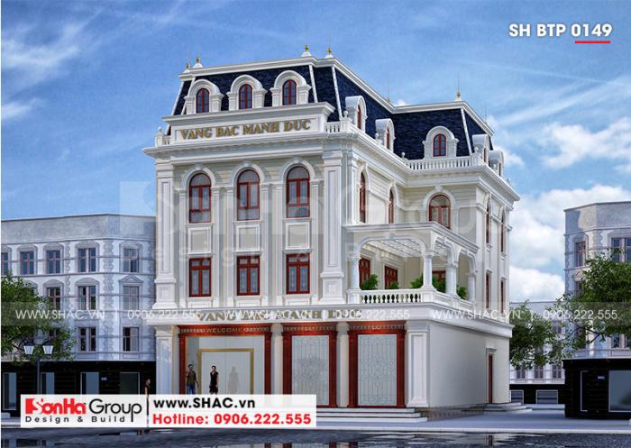 Kiến trúc ngôi biệt thự 3 tầng hội tụ những nét đẹp tinh tế và kiêu sa của dòng kiến trúc tân cổ điển Pháp khiến bao người phải ngoái nhìn