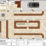 3 Mặt bằng tầng 1 biệt thự tân cổ điển mặt tiền 15m tại hải phòng sh btp 0149