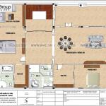 4 Bản vẽ tầng 2 biệt thự tân cổ điển kết hợp kinh doanh tại hải phòng sh btp 0149